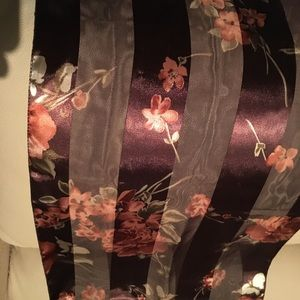 Amazing scarf with sheer panels shiny and new